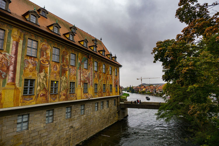 Bombers city sights Altes Rathous Architecture Bamberg  Building Building Exterior Built Structure Canal Cloud Cloud - Sky Cloudy German House Main River Nautical Vessel Outdoors Reflection Residential Building Residential Structure River Sky Transportation Tree Water Waterfront