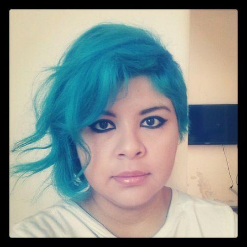 Yep! Mermaid Mermaidhair Color Colorbrilliance skyblue teal diyhair diy makeup mexicangirl prettygirl girl mommy