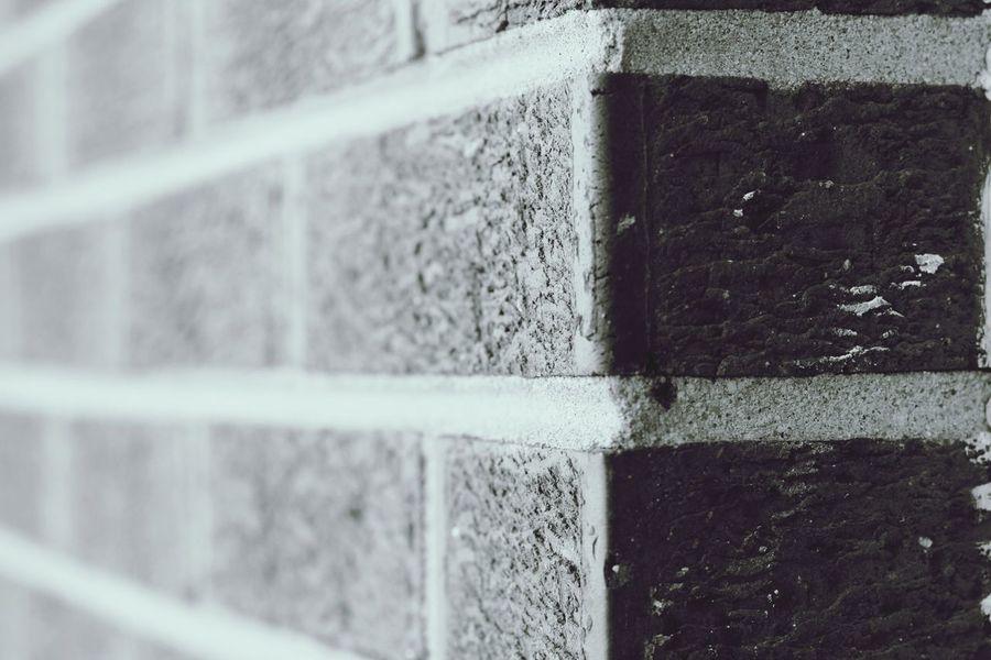 Newark, NJ Bricks Brick Wall Blackandwhite Brick And Mortar No People