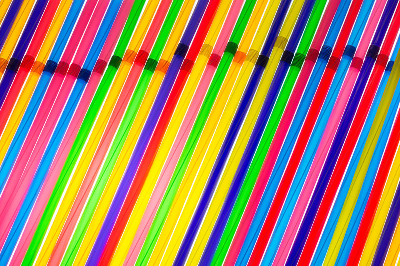 Full frame shot of colorful drinking straws