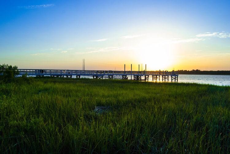 Marsh! Marsh! Marsh! Sunset Silhouette Bridge EyeEm Charleston