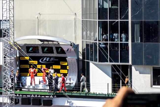 Celebration Ferrari Mercedes Motorsport Podium F1 Hungaroing Victory