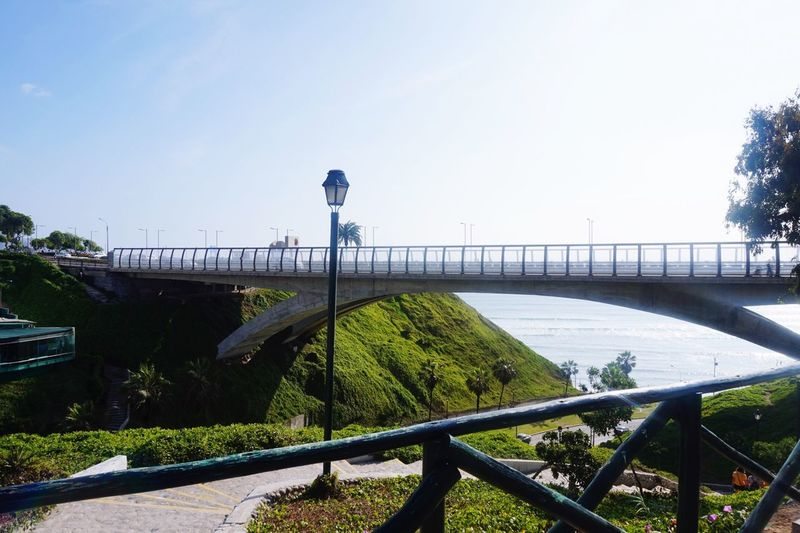 Bridge - Man Made Structure Railing Architecture Day Outdoors Sky Built Structure Clear Sky Nature Building Exterior No People Water Beauty In Nature City EyeEmNewHere Perspectives On Nature