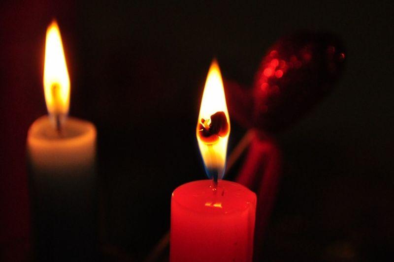 Flower Fiery Candle