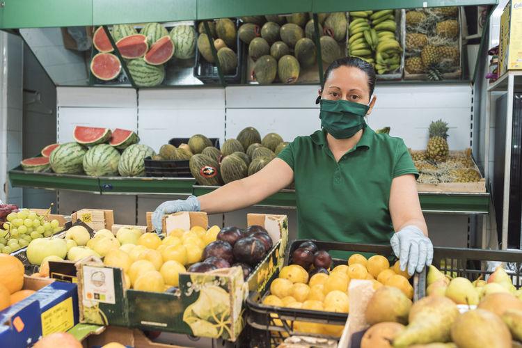 Full frame shot of fruits for sale at market