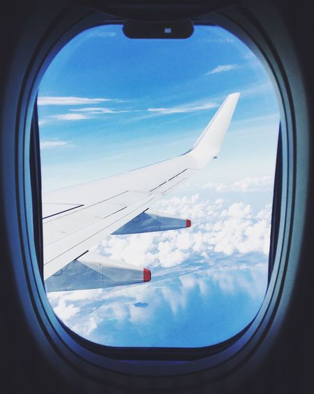 Airplane mode #travel Airplane Sky Window Mid-air First Eyeem Photo