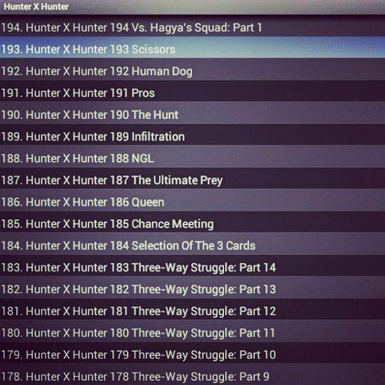 Hunterxhunter Manga