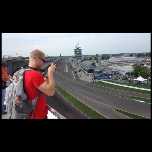 Hangin out on the roof and watched the Harleys. Best view on the speedway ive been. Indymotogp Motogp XR1200