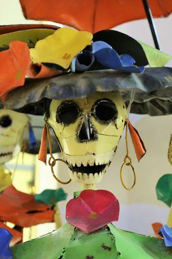 Elegant Sugar Skull Lady Cinco De Mayo Statue Sugar Skull Statues Close-up Colorful Sugar Skull Day Elegant Lady Halloween Human Skull Metal Sculpture Multi Colored One Person Outdoors Sugar Skull Sugar Skull Babe Sugar Skull Love Sugar Skulls