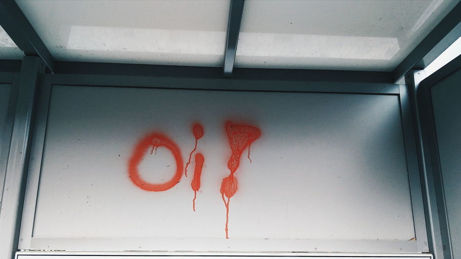 Street Art Graffiti Vandalism Oi On The Go  Train Station