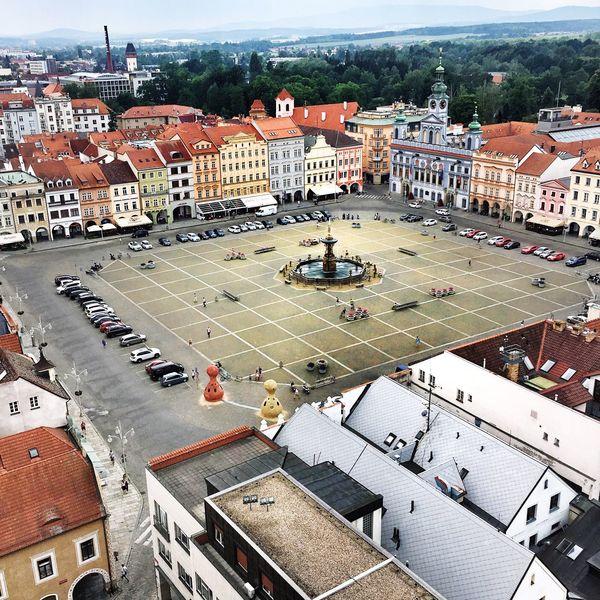 Budweis Budweis Von Oben Vogelperspektive Tschechische Architektur Tourist Life Your Ticket To Europe