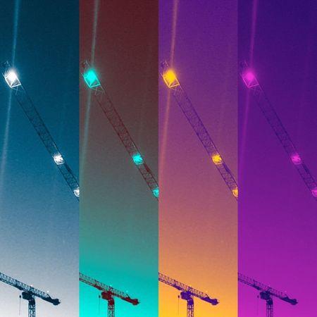 Cranes Crane - Construction Machinery Colours Abstract Cranes Multi Colored