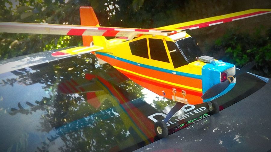 Radio Controlled Trainer Plane , Wrong Landing...... Car.... Hobby....