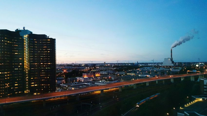 Architecture Sky City Life Amsterdam Sloterdijk Cityscape Illuminated Architecture City Cityscape Dusk Tower City Life Urban Skyline First Eyeem Photo