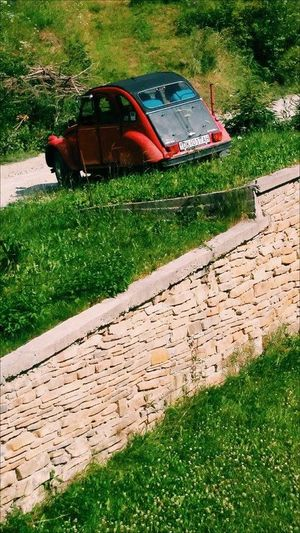 Vintage Green Grass 🌱 Nature Photography Old Car Red And Black Everything Sunny Day☀