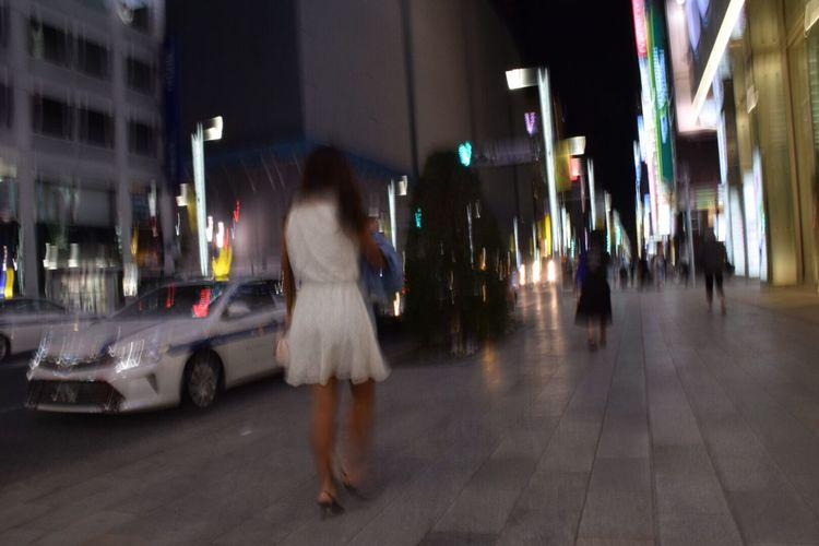 Tokyo,Japan Street Snapshots Ginza Snapshot Night View
