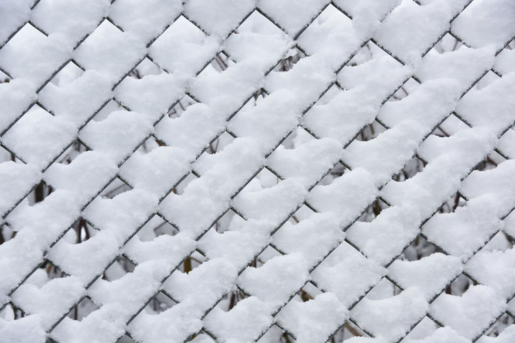 Winter in the Teutoburger Wald Full Frame Backgrounds No People Pattern Snow White Color Large Group Of Objects Day Close-up Cold Temperature High Angle View Winter Indoors  Covering Abundance Nature Repetition Shape Wire Fence Close Up, Wire Fence