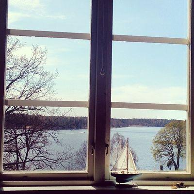 Norrtelje Sweden Nature Window_view igcentric_nature natur sun sea ship beauty
