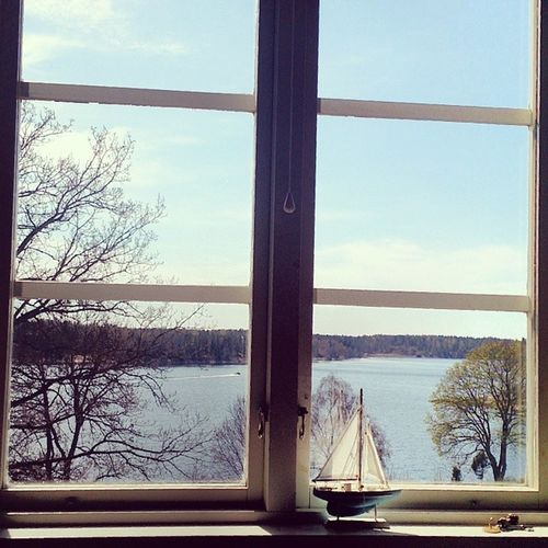 Norrtelje Sweden Nature Window_view igcentric_nature natur sun sea ship beauty
