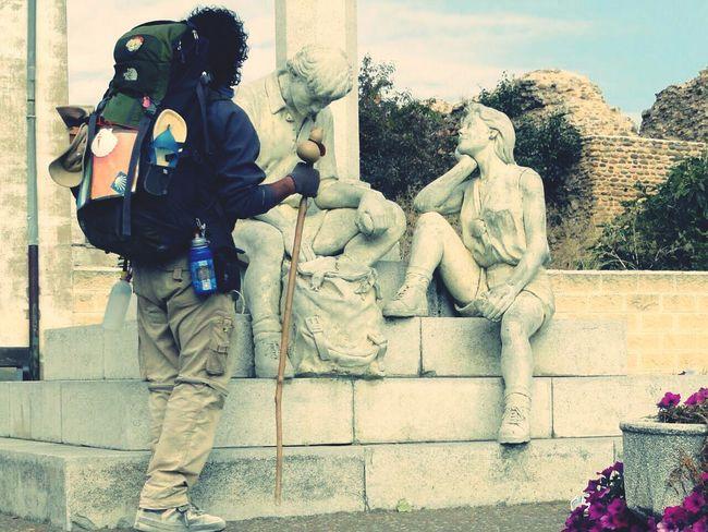 Pilgrimage Elcamino Streetphotography Statue