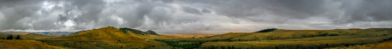 Panoramic view of landscape against sky
