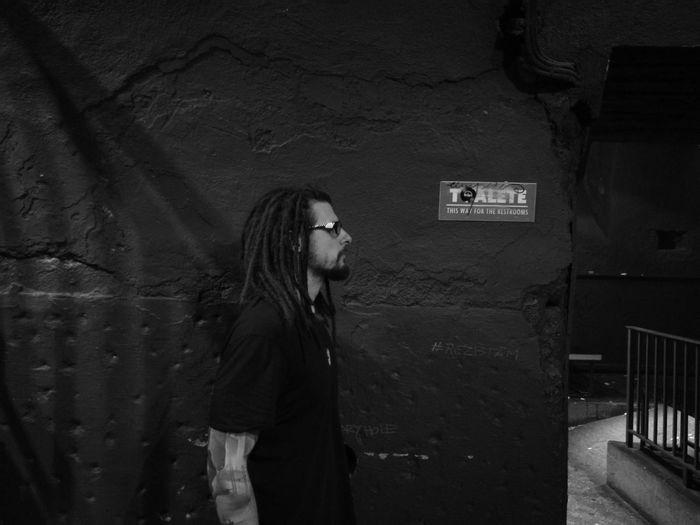 One Person Club Night Bucharest Amateurphotography B&w Photography B&w Photo B&w Wall Broken Details Dreads Dreadlocks