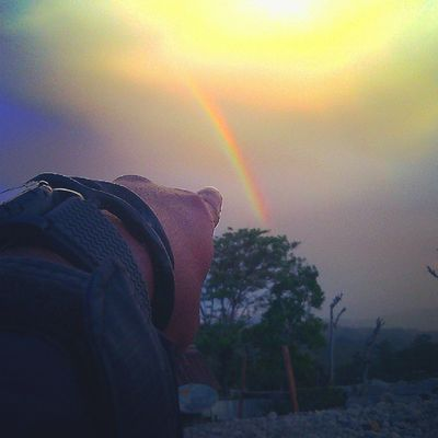 LOOK AT THAT Oyikk Hepuba Wamena Papua indonesia kampunghalaman rainbow
