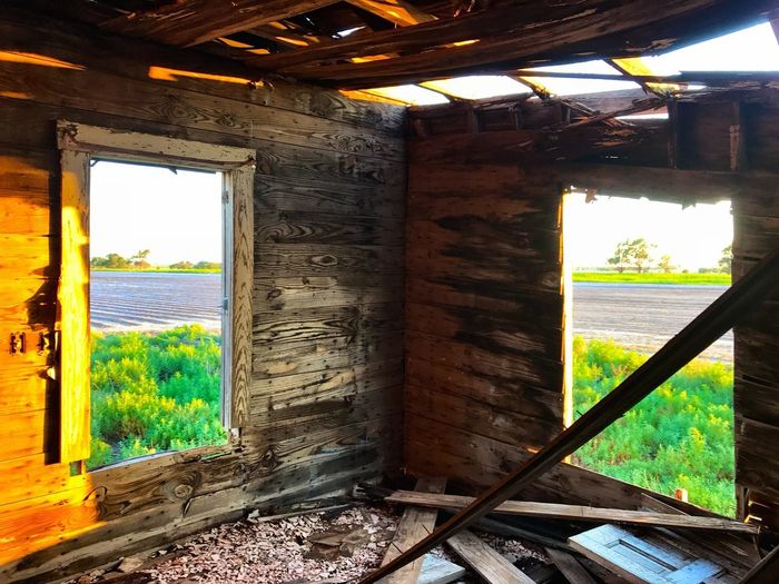 """Double View"" An abandoned old house in West Texas is positioned with a double view of the cotton fields surrounding it. Window House Abandoned Architecture Farmhouse Rural Scene Cottonfields Westtexas West Texas West Texas Landscape Texas Double View"