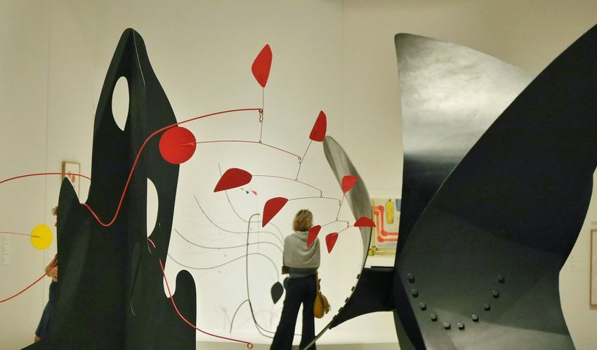 Calder au Musee Soulages Rodez - Red Black Indoors  Adults Only Museum Colors Aveyron Exposition Modernart Rodez Abstractart Color Art Abstrait Arts Culture And Entertainment Multi Colored Creativity Geometry Sculpture