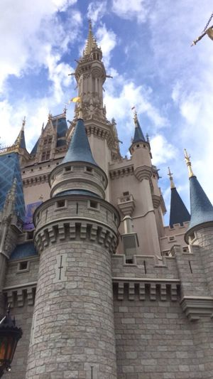 Magic Kingdom DisneyWorld Disney Castle Architecture Sky Low Angle View Travel Destinations Day Happiestplaceonearth