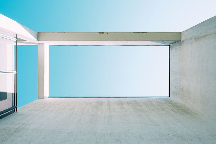 BLUE SKY Minimalism Minimalist Architecture My Best Photo Architecture Built Structure Building No People Wall - Building Feature Copy Space Day Modern Ceiling Blue Sky Sky Concrete City White Empty Indoors  Blank White Color Flooring Absence Wall Design Blue Domestic Room Garage Apartment The Architect - 2019 EyeEm Awards