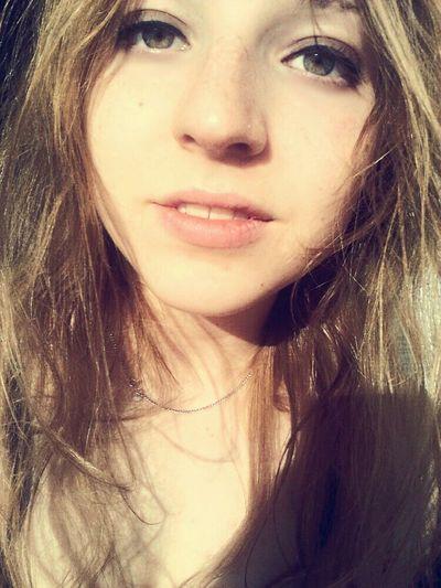 Sun Light Blond Hair Enjoying Life