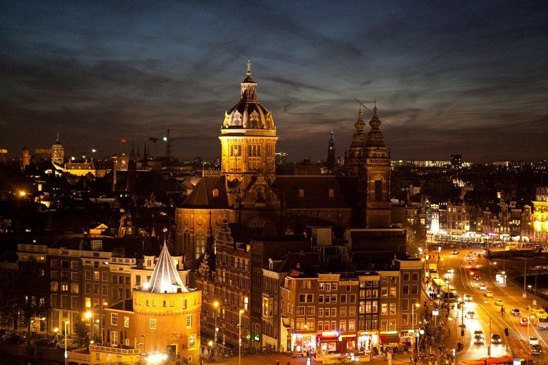 Amsterdam Skyline Night Sundown From Rooftop Terrace From The Rooftop My Country In A Photo Seeing The Sights Your Amsterdam HUAWEI Photo Award: After Dark