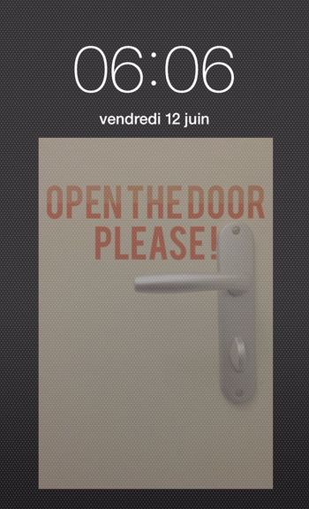 06H06🕧Open the door Please !!! HEURE POLARIS Clock Time Heure Door Porte Help A L'aide  😝 Réflexion Personnelle Philosophie