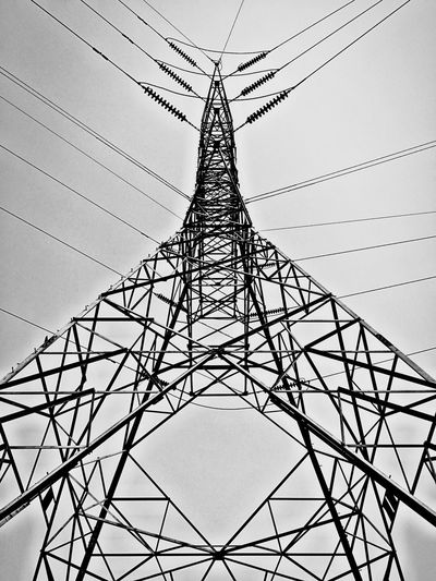 Bnw_friday_eyeemchallenge Steel Structure  Tower Steel Tower  Electric Wire Electric Tower  IPhoneography Iphone6