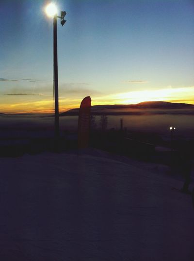 Winter Sunset Living Life Landscape