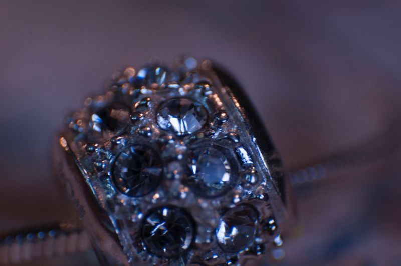 Close-Up Of Diamond Ring