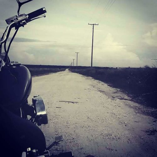 pick the roads less traveled lead to a place of happy hearts Motorcycle Lostsoul Nodestination Roadlesstraveled Florida Road Sand Motorcycle Sky Cloud - Sky Empty Road