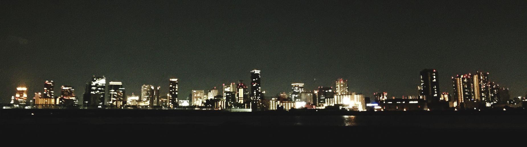 Umeda from Nishiyodogawa. Nightphotography Cityscape Osaka,Japan