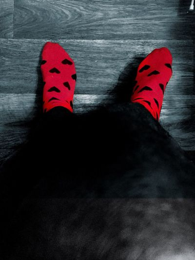 Lifestyles Red Socks Styling Loveit Lovestory Images Fashionable Wood Low Angle View Urban Geometry Lights And Shadows From Where I Stand