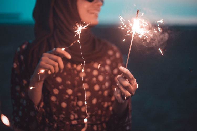 // sparkles & she // AMPt_community EyeEm Fireworks Happy Happy People Japan Light Sparkle Twilight Fire Firework Front View Girl Glow Holding Illuminated Joy Leisure Activity Lifestyles One Person Real People Shootermag Sparkler Sparkles ✨ Women The Portraitist - 2018 EyeEm Awards
