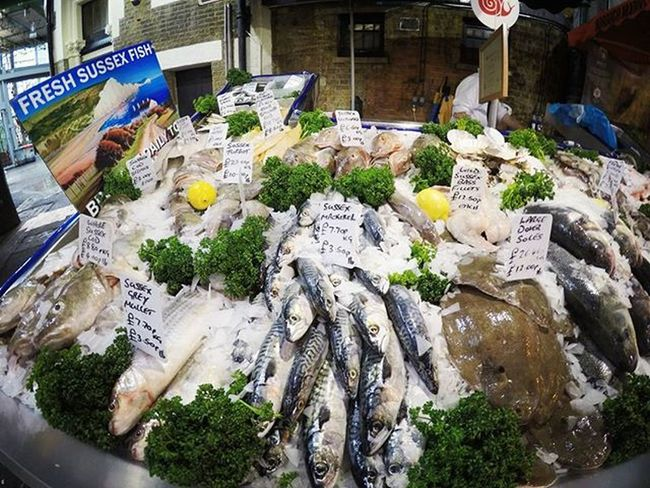 A bit fishy here... :) | Borough Market, London London Boroughmarket Freshfish Travel Goprohero4