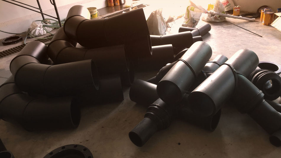 Mechanical PE Pipe Piping Work POLY