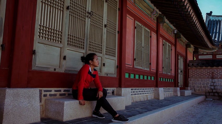 Excited for another solo travel in 2018 Red Adult People One Person Young Adult Full Length Architecture Travel Destinations Young Women Outdoors Building Exterior Day City Outdoor Photography Beautiful Woman One Woman Only Be. Ready. South Korea Gyeongbokgung Palace, Seoul Vacation Solo Travel Solo EyeEmNewHere Leisure Activity Only Women Step It Up One Step Forward Fashion Stories An Eye For Travel Love Yourself