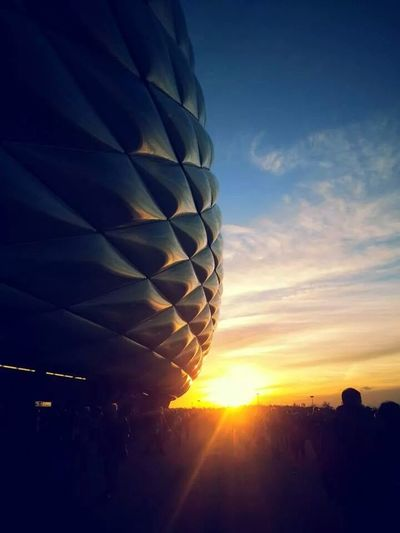 First times in Allianz Arena Allianz Arena Sunset Sunlight Nature Day Outdoors Architecture Fc Bayern München FCB Best Team Ever