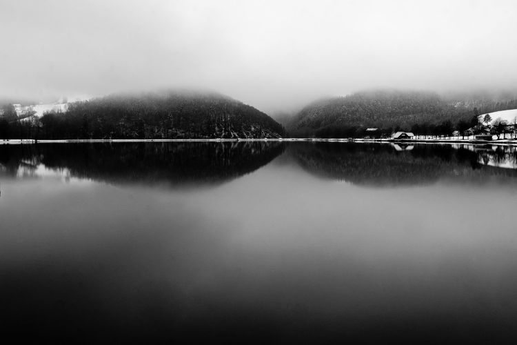 lake Eyeem Market Deep Water Hills Mystic Nature Beauty In Nature Foggy Lakesideview Outdoor Pause Plain Shoreline Tranquil Scene Water