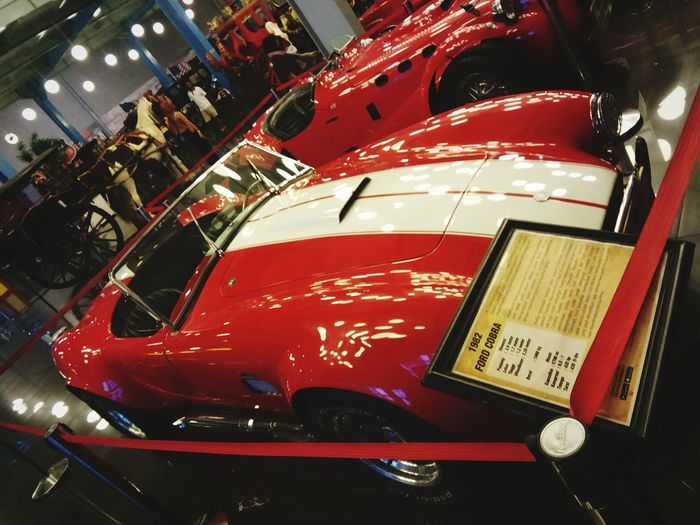 This car awesome Car Transportation Mode Of Transport Red Indoors  Close-up First Eyeem Photo Antique Glamour Land Vehicle No People Day