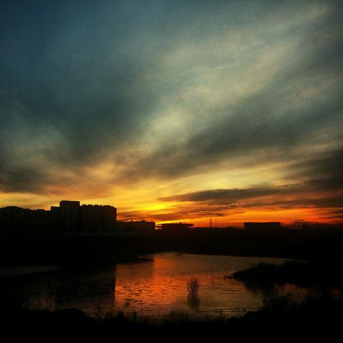 I wonder what its like over the Horizon Shadows University Campus Nust Sunset Beauty Nature Lake View Urban