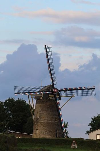 Windmill Mill Molen Windmill In Terblijt, South Limburg Taking Photos Landweg Landscape Country Road The Week Of Eyeem Beauty In Nature Terblijt South Limburg On My Way Home Taking Pictures Fresh On Eyeem  Nature Canon EOS 1300D On The Way Clouds And Sky Evening Sky Sunset Taking Photos Dutch Landscape Dutch Countyside Dutch Windmill Showcase July