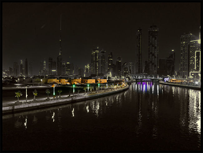 Dubai Architecture Auto Post Production Filter Building Building Exterior Built Structure City Cityscape Financial District  Illuminated Marina Modern Night No People Office Building Exterior Outdoors Reflection River Sky Skyscraper Tall - High Transfer Print Transportation Water Waterfront
